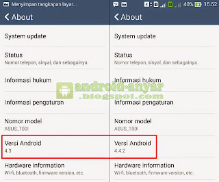Cara Upgrade Android Jelly Bean ke KitKat 4.4.2 Asus Zenfone 4