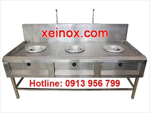 Bếp inox công nghiệp 3 họng