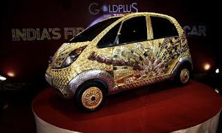 Gold covered Nano micro-car