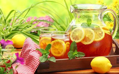 Té frío de limón - Cold lemon tea - Bebidas naturales