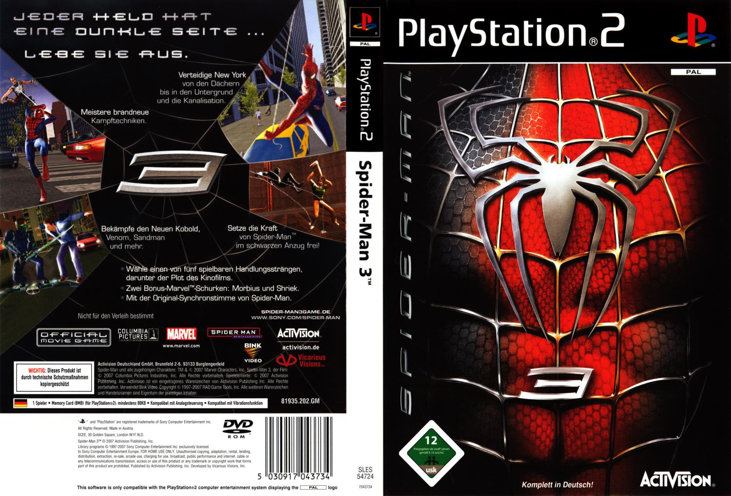 Spiderman 3 Game Ps3