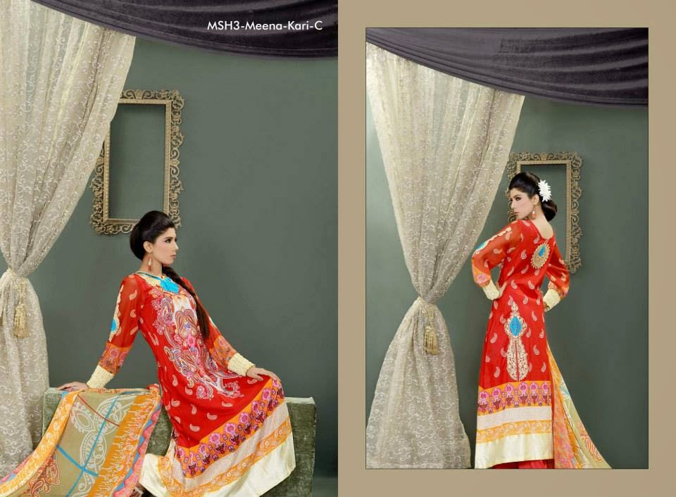 MashaalEmbroideredCollection2014VOL 03ByLalaTextile 11  - Mashaal Embroidered Collection 2014 VOL-3