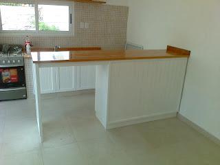 Benjamin mueble de cocina laqueado blanco con barra - Mueble barra cocina ...