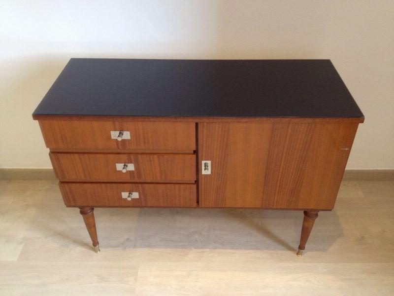 Madame vintage mueble de formica a os 60 for Pintar muebles de formica