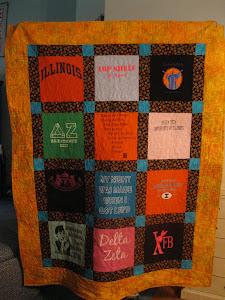 College t-shirt quilt