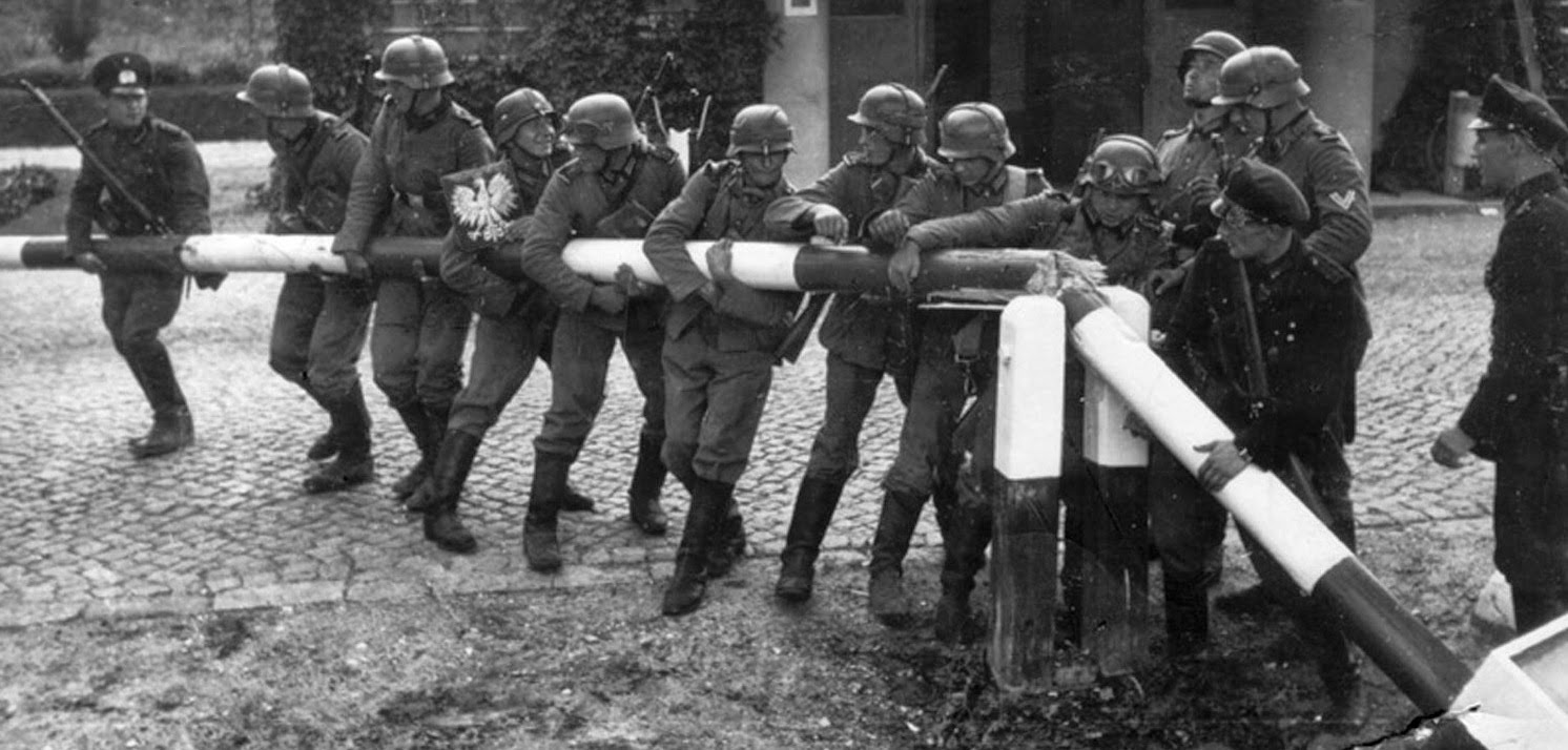 Soldados alemanes frontera Polonia