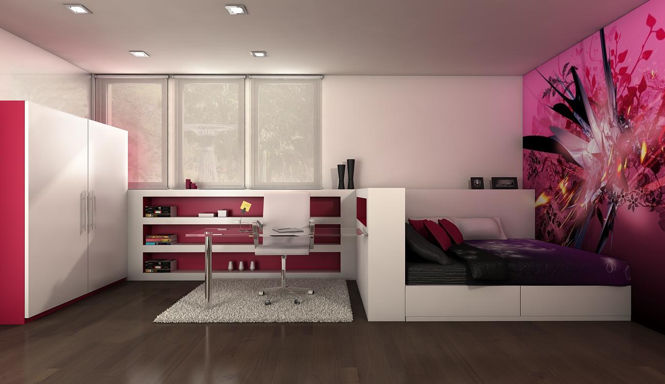 Atrezzo 3d habitaciones juveniles for Ideas creativas para cuartos