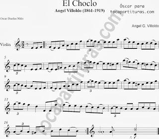 Partituras de E Choclo en Clave de Sol de Flauta, Violín, Saxo Alto, Oboe, Trompeta, Saxofón Tenor, Soprano Sax, Clarinete, Trompeta, Cornos, Trompa, Barítono, Voz... Choclo Sheet Music in treble clef for violin, flute, alto saxophone, trumpet, clarinet, horn, flugelhorn, baritone, voice...