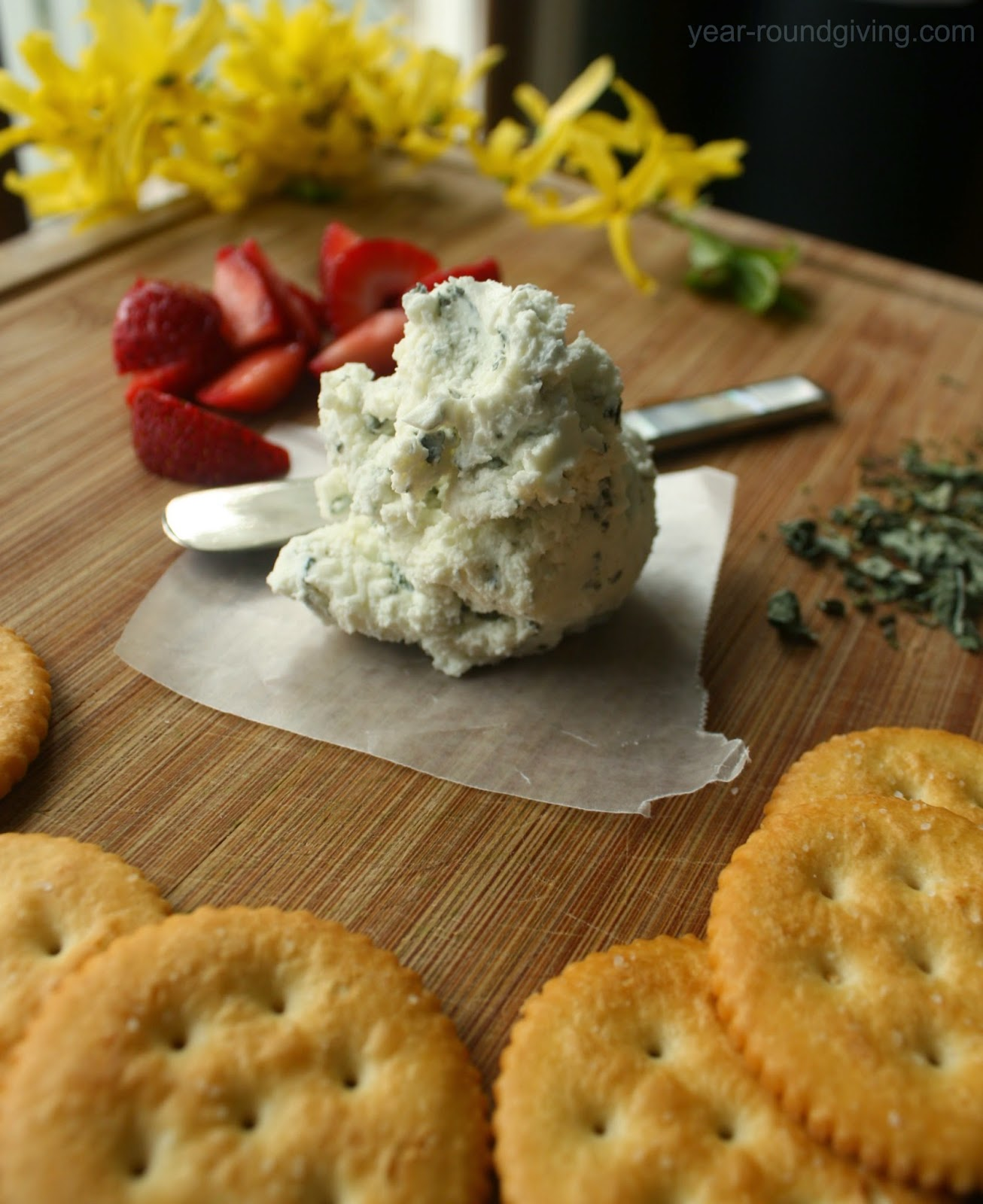 Basil Goat Cheese Spread