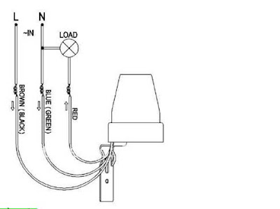 Sơ đồ lắp dây cảm biến quang mở đèn tự động