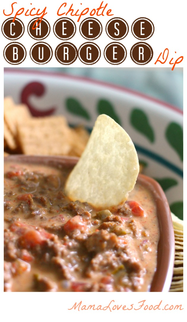 Spicy Chipotle Cheeseburger Dip