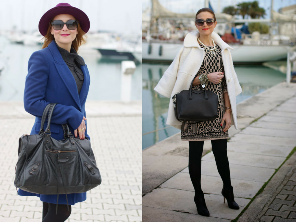 The best winter coats, blue coat, white coat, fashion blogger Fashion and Cookies, fashion blog