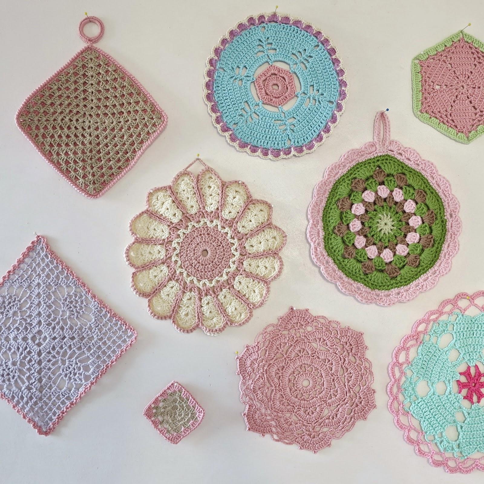 byHaafner, crochet, doily, potholder, pastel