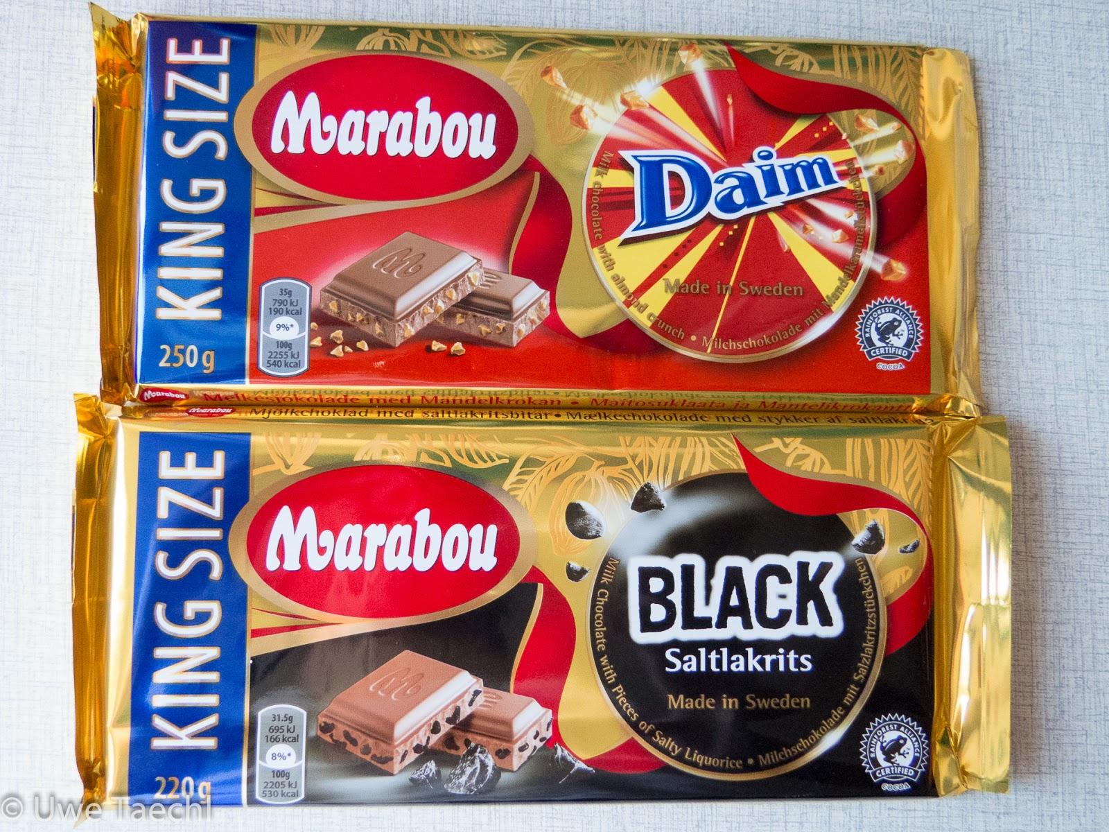 testing eins zwei test marabou schokolade daim black saltlakrits. Black Bedroom Furniture Sets. Home Design Ideas