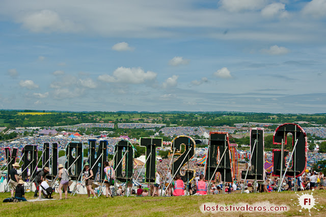 Park Hill. Panorámica de Glastonbury Festival