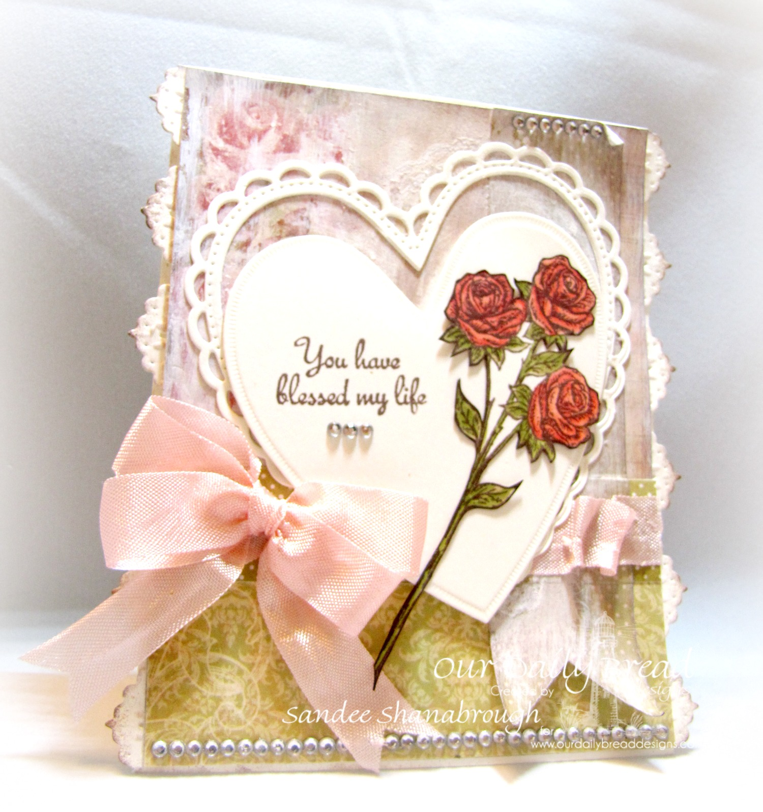 Stamps - Our Daily Bread Designs Rose, ODBD Custom Ornate Hearts Die, ODBD Blushing Rose Paper Collection