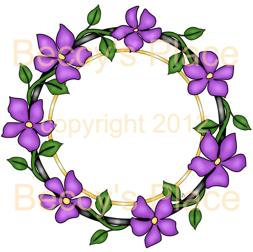 972 x 968 · 116 kB · jpeg, Flower Wreath Drawing