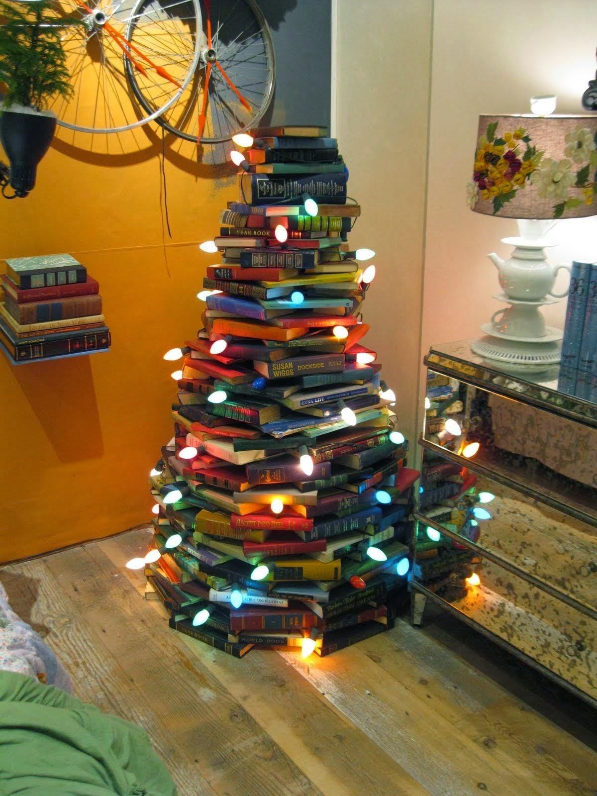 Árvore de Natal Livros, Christmas Tree Books