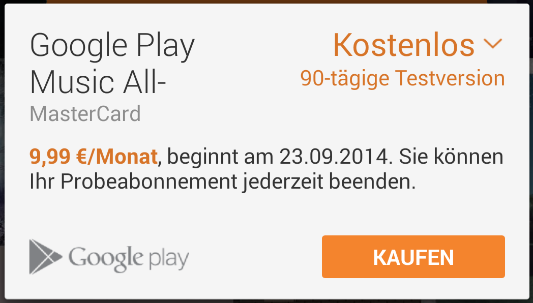 google play music 90 tage kostenlos testen android. Black Bedroom Furniture Sets. Home Design Ideas