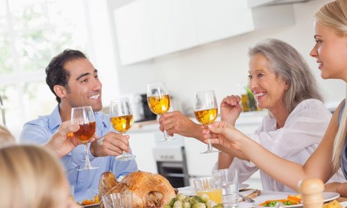 5 Tips for Meeting her Parents toast cheers drinking family happy