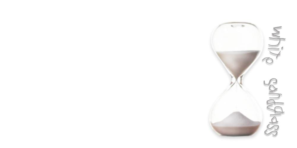 white-sandglass