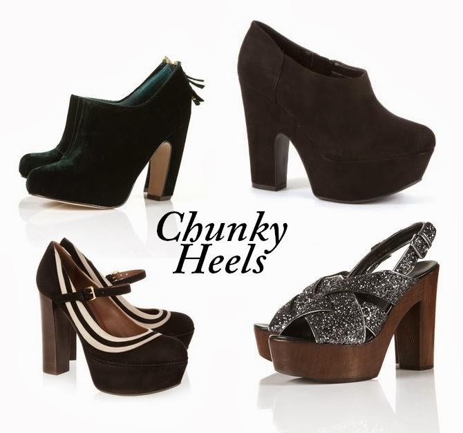 Model Sepatu Chunky Heel