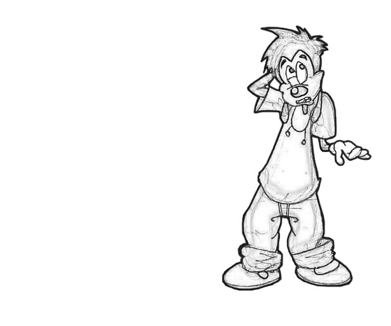 max-goof-look-coloring-pages