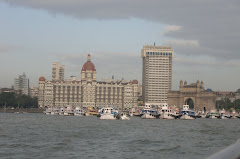 Gateway to India and the Taj Mahal Hotel from the bay