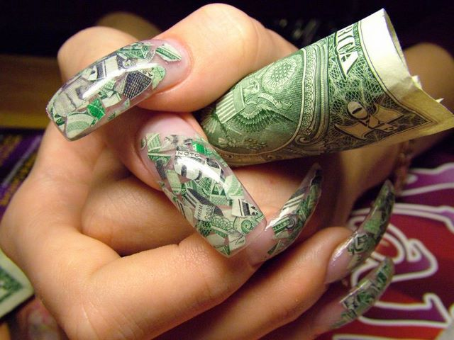 Beauty Best Nail Art: The Beautiful Money Nail Designs