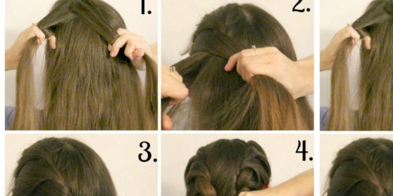 Cute Double Twist Hairstyle-DIY - B & G Fashion