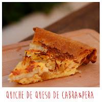 Foto: Quiche de pera y queso de cabra