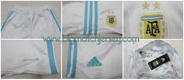Detail Celana Bola Jersey Grade ORI Argentina Home Official Coppa Amerika 2015