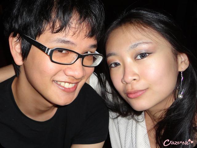 asian couple clubbing