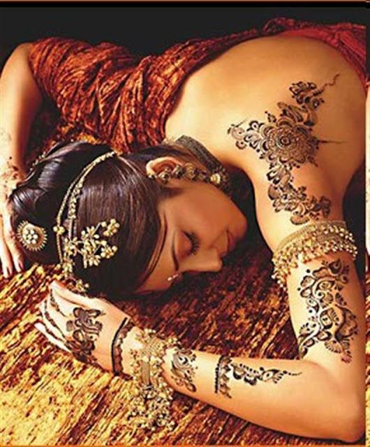 Traditional Mehndi Body Designs