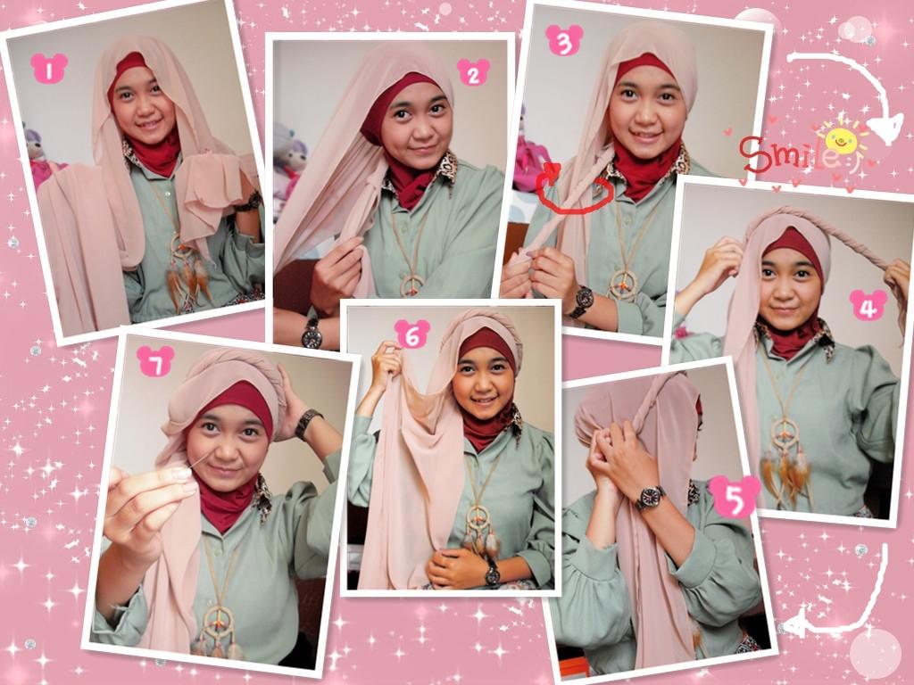 Cara Memakai Jilbab Pashmina Dan Gambar Tutorial Hijab