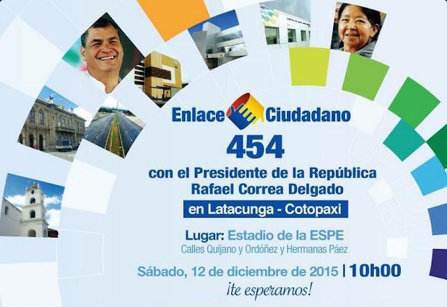 cadena sabatina de Correa 12 diciembre de 2015