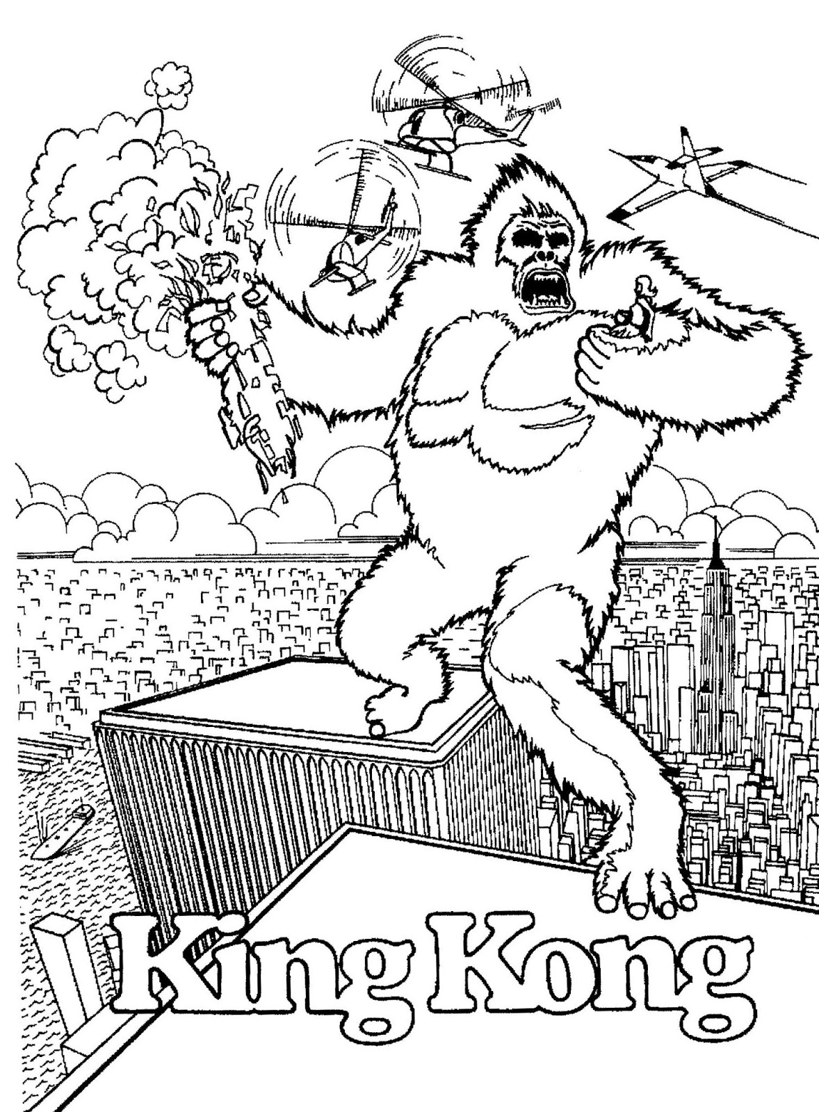 Mostly Paper Dolls Too King Kong Coloring Contest Kong Coloring Page