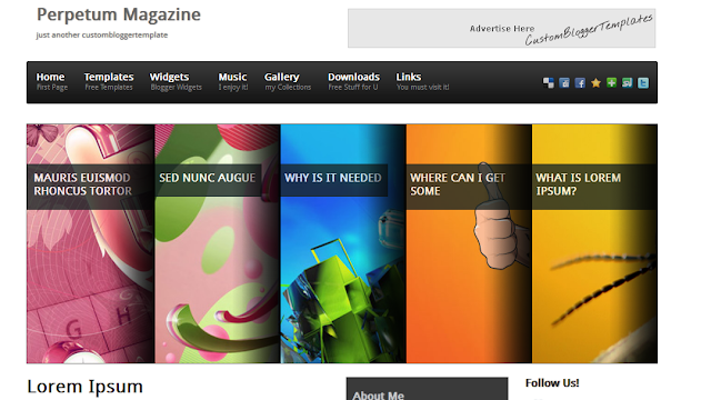 Awesome Magazine Blogger Template