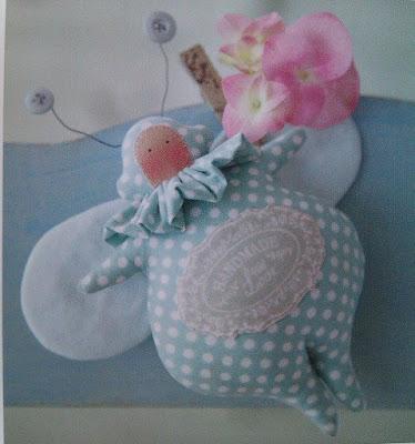 borboleta de tecido  Tilda  com molde - patchwork