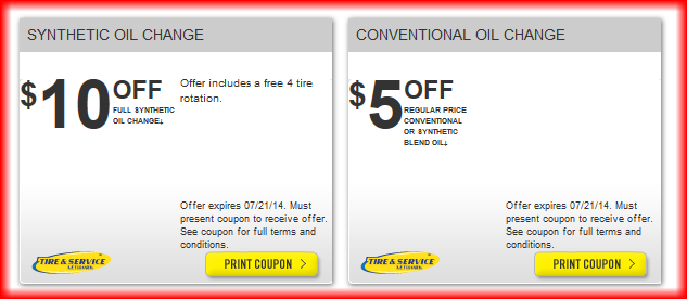 Goodyear Oil Change Coupon July 2014 Oil Change Coupons