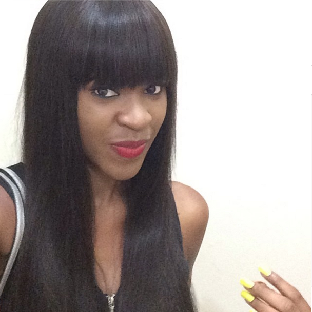 Blogs Vila Miss Nigeria 2013 Shows Off Amazing Fringe Hairstyle See Pics