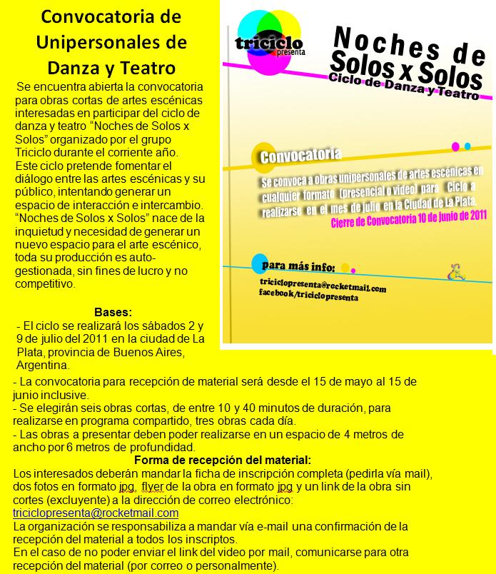 Noches de solos x solos - Ciudad de La Plata
