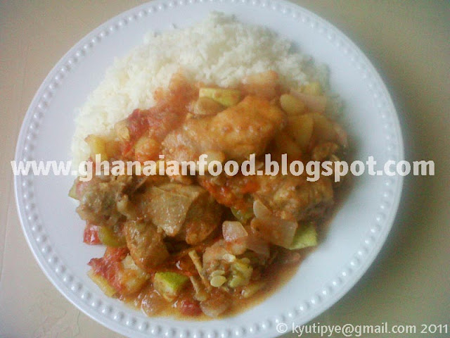 how to prepare ghanaian vegetable sauce