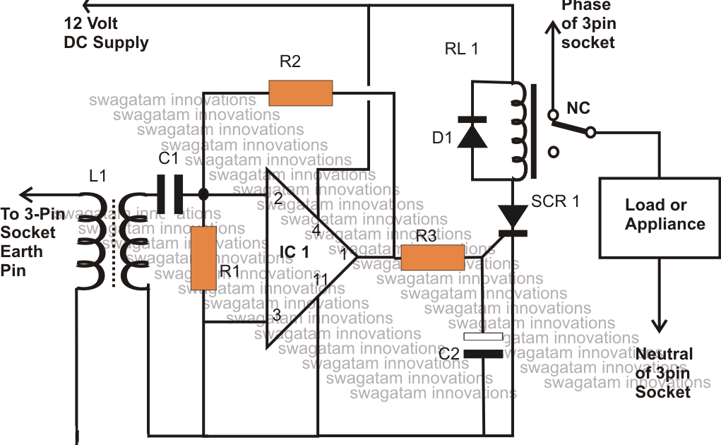 how to make a homemade earth leakage circuit breaker  elcb  unit using ic 324