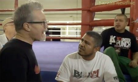 Roach vs Garcia scuffle