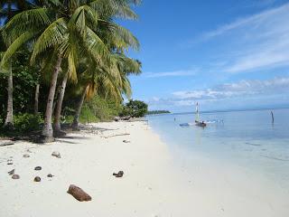 Pantai pasir putih Pulau Padaido