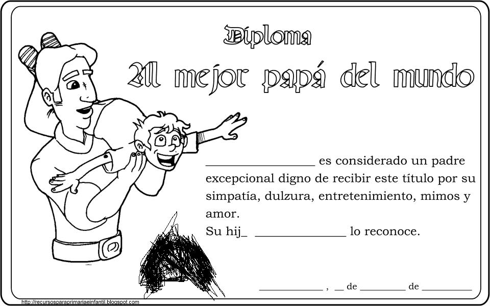 ... para Primaria e Infantil: Diplomas Día del padre para imprimir