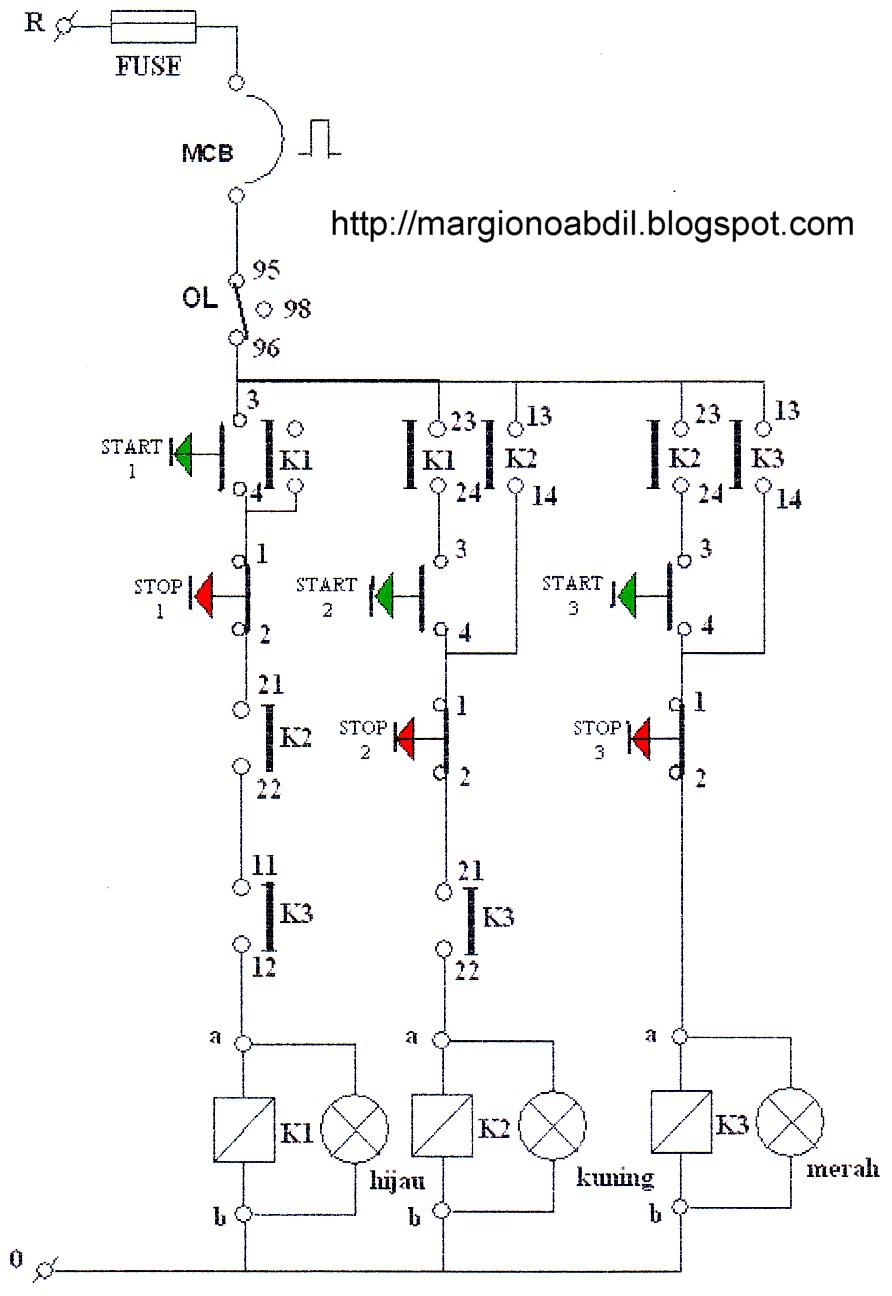 Bagirgiono abdil ber gambar 1 diagram kontrol 3 buah motor bekerja secara bergantian manual ccuart Gallery
