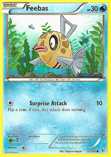 Feebas Flashfire Pokemon Card