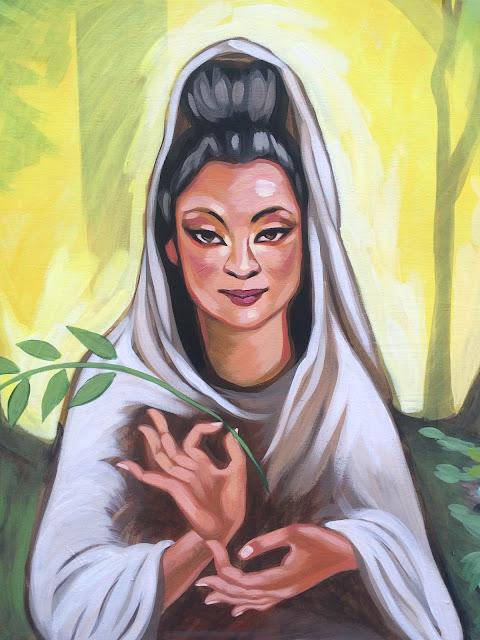 quan yin art, guanyin painting, goddess painting, goddess mural, goddess of compassion, portland muralist